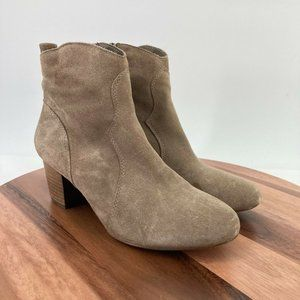 Steve Madden Boots Suede Leather Booties Hipstr